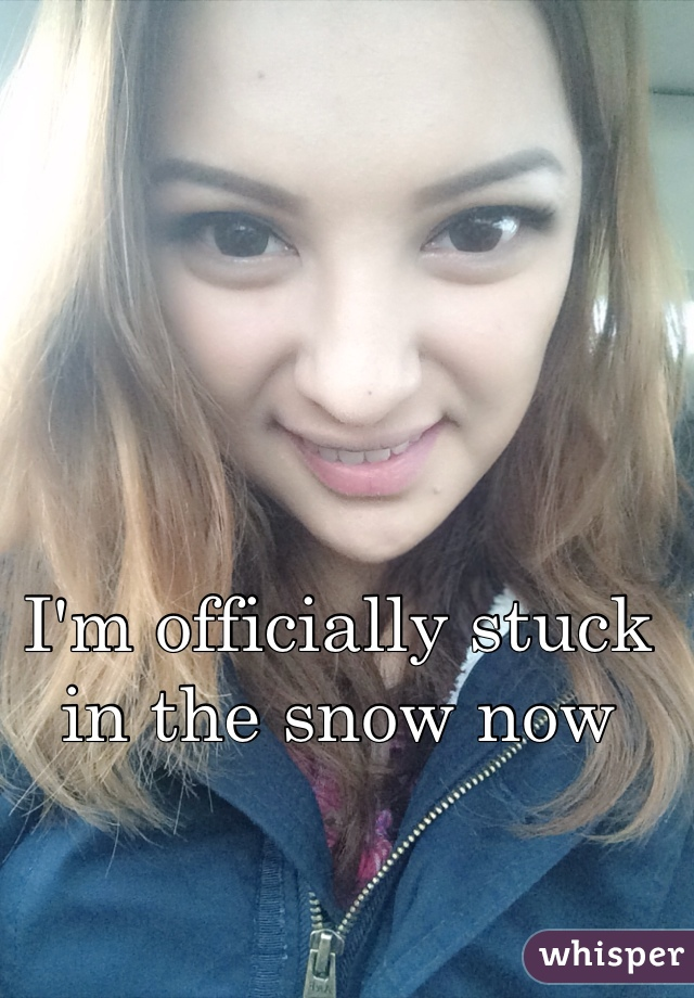 I'm officially stuck in the snow now