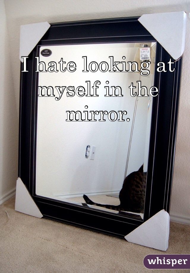 I hate looking at myself in the mirror.
