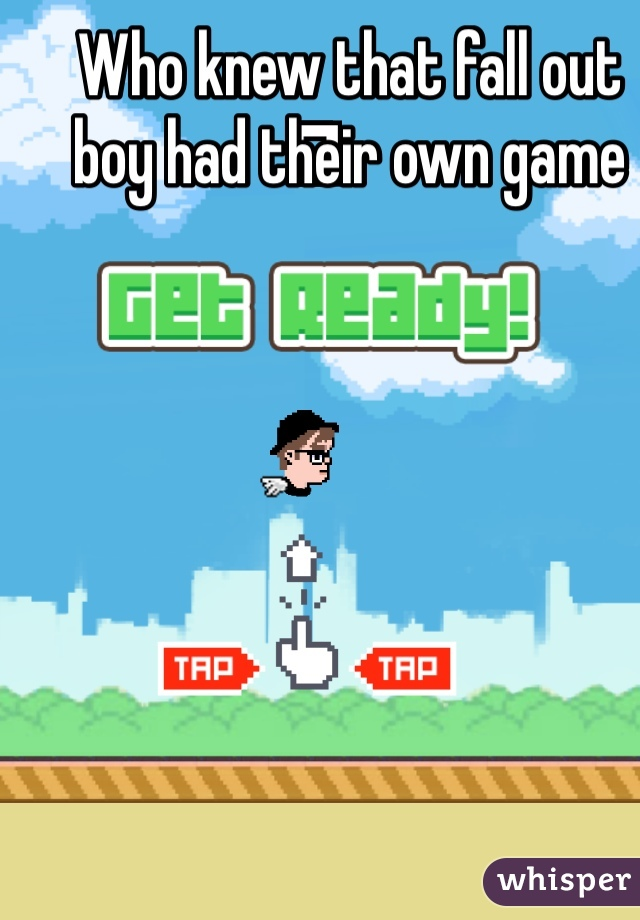 Who knew that fall out boy had their own game