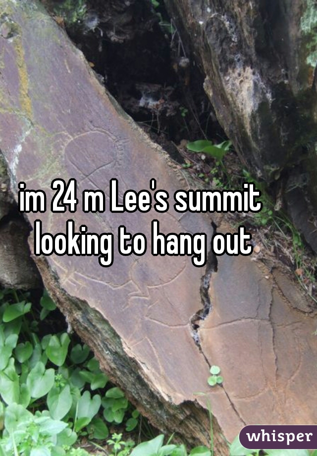 im 24 m Lee's summit looking to hang out