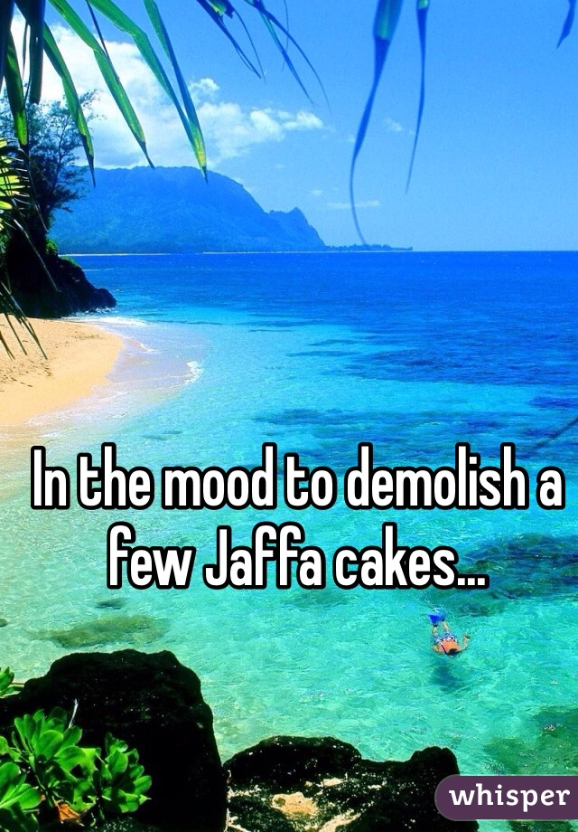In the mood to demolish a few Jaffa cakes...