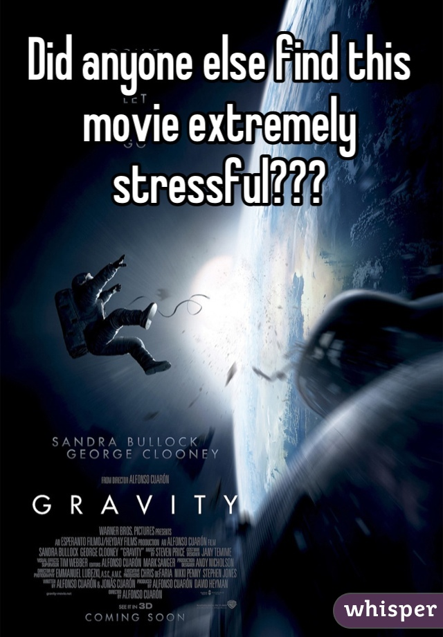 Did anyone else find this movie extremely stressful???