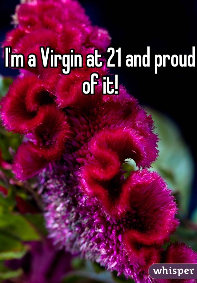 I'm a Virgin at 21 and proud of it!