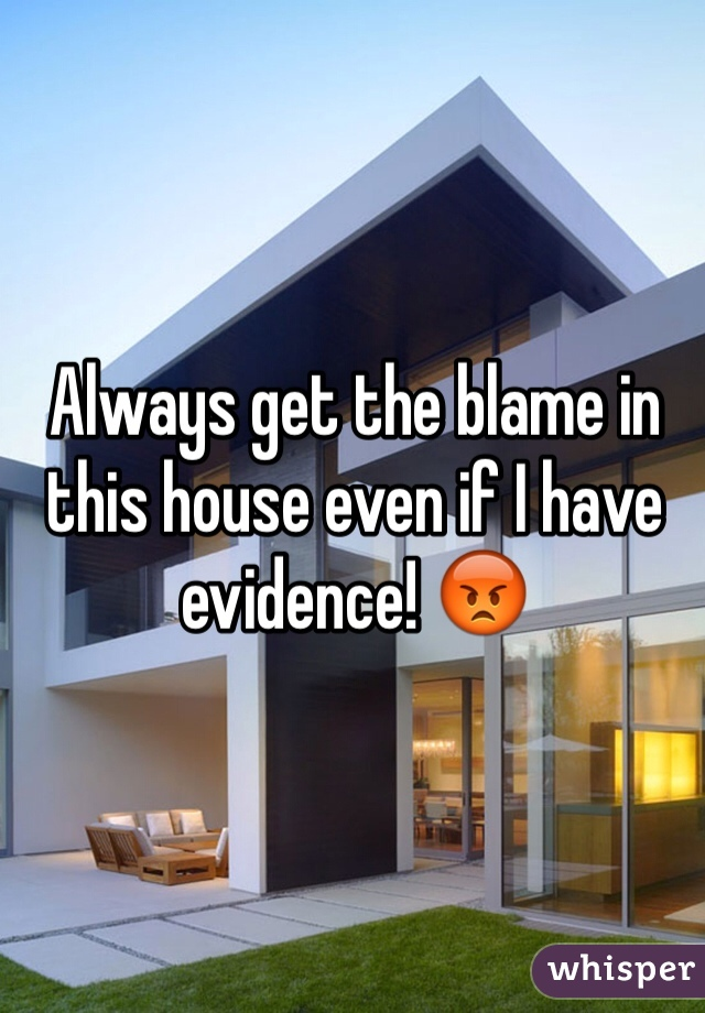 Always get the blame in this house even if I have evidence! 😡