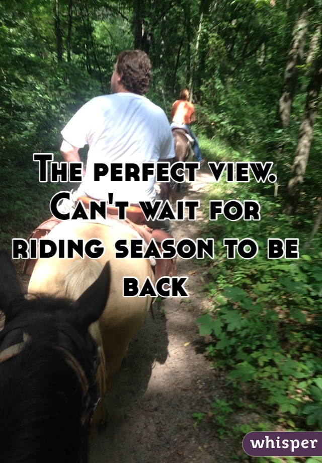 The perfect view. Can't wait for riding season to be back