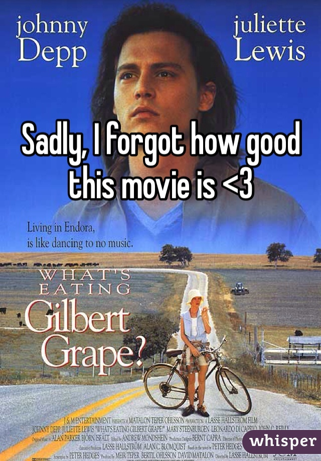 Sadly, I forgot how good this movie is <3