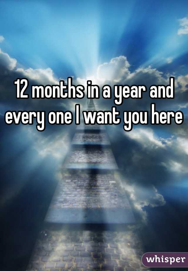 12 months in a year and every one I want you here