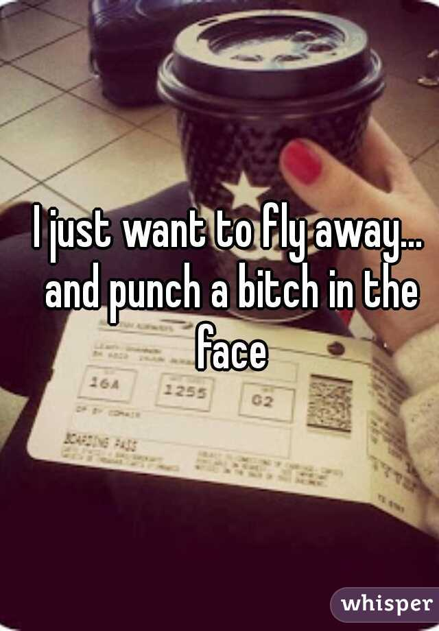I just want to fly away... and punch a bitch in the face