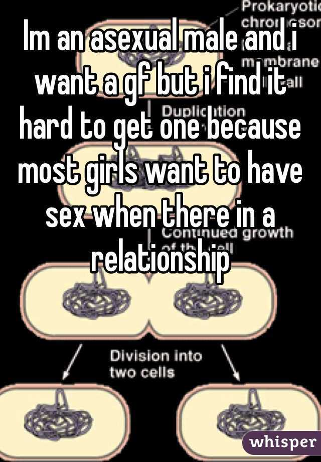 Im an asexual male and i want a gf but i find it hard to get one because most girls want to have sex when there in a relationship
