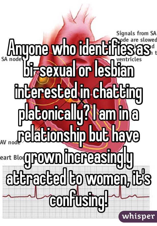 Anyone who identifies as bi-sexual or lesbian interested in chatting platonically? I am in a relationship but have grown increasingly attracted to women, it's confusing!