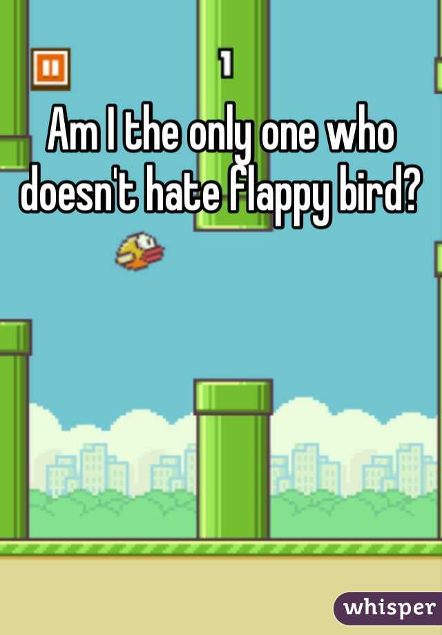 Am I the only one who doesn't hate flappy bird?