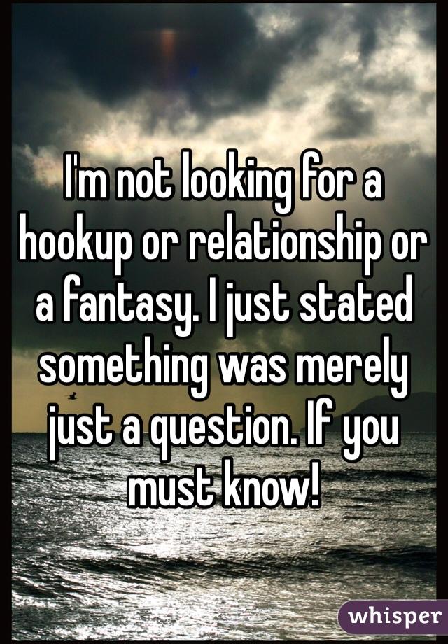 Hookup or relationship