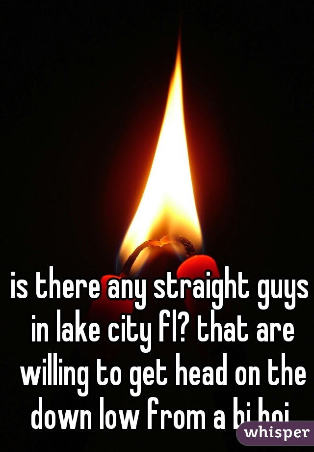 is there any straight guys in lake city fl? that are willing to get head on the down low from a bi boi