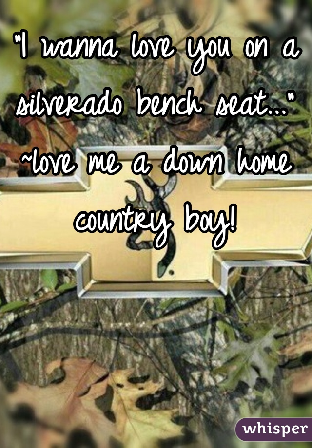 """""""I wanna love you on a silverado bench seat..."""" ~love me a down home country boy!"""