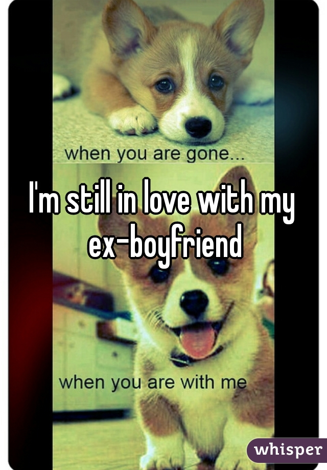 I'm still in love with my ex-boyfriend