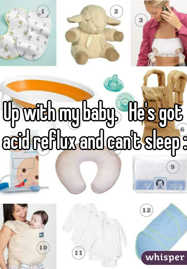 Up with my baby.   He's got acid reflux and can't sleep :)