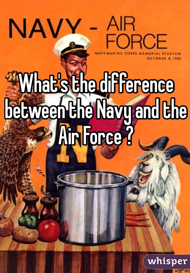 What's the difference between the Navy and the Air Force ?