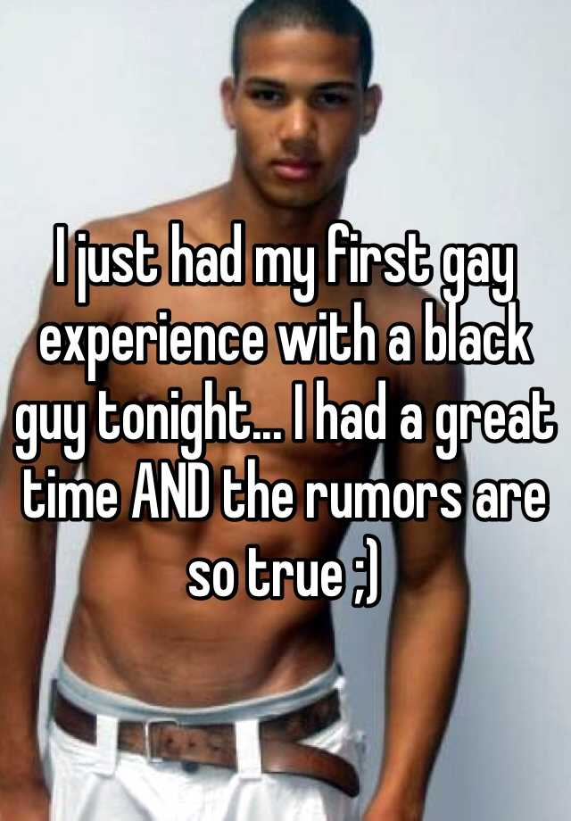 first gay male experience