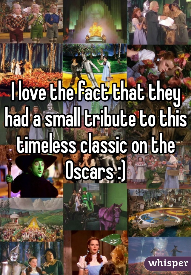 I love the fact that they had a small tribute to this timeless classic on the Oscars :)