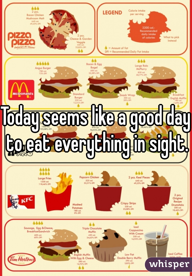 Today seems like a good day to eat everything in sight.