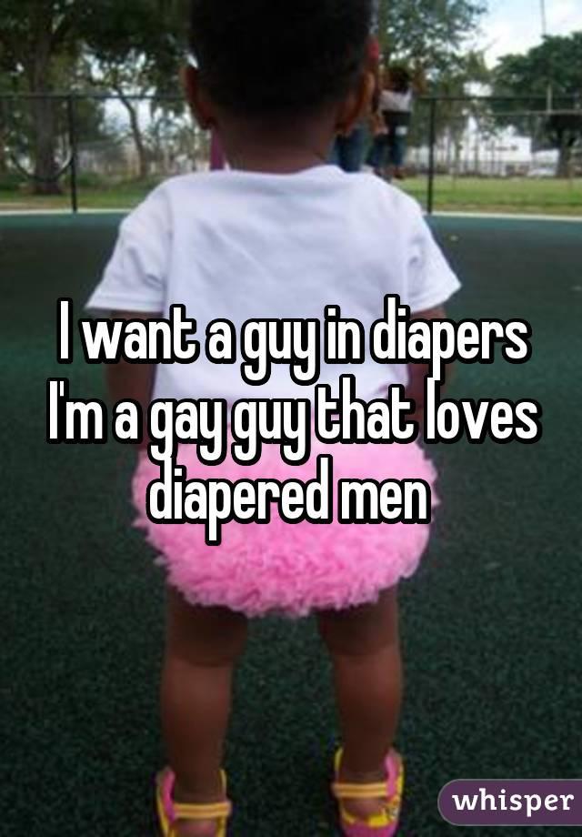 Gay guys in diapers