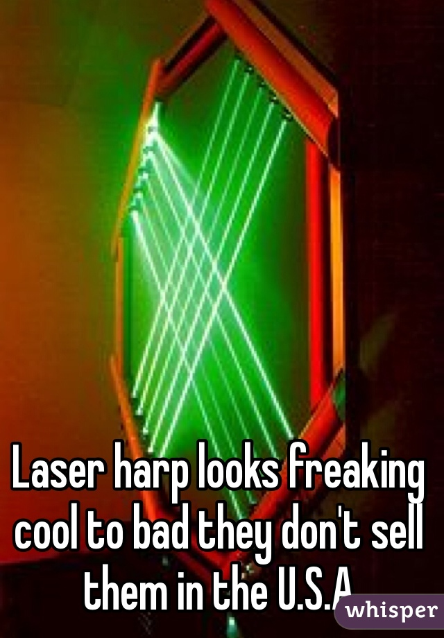 Laser harp looks freaking cool to bad they don't sell them in the U.S.A