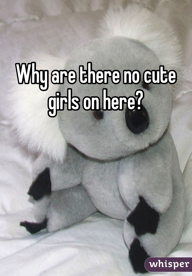 Why are there no cute girls on here?