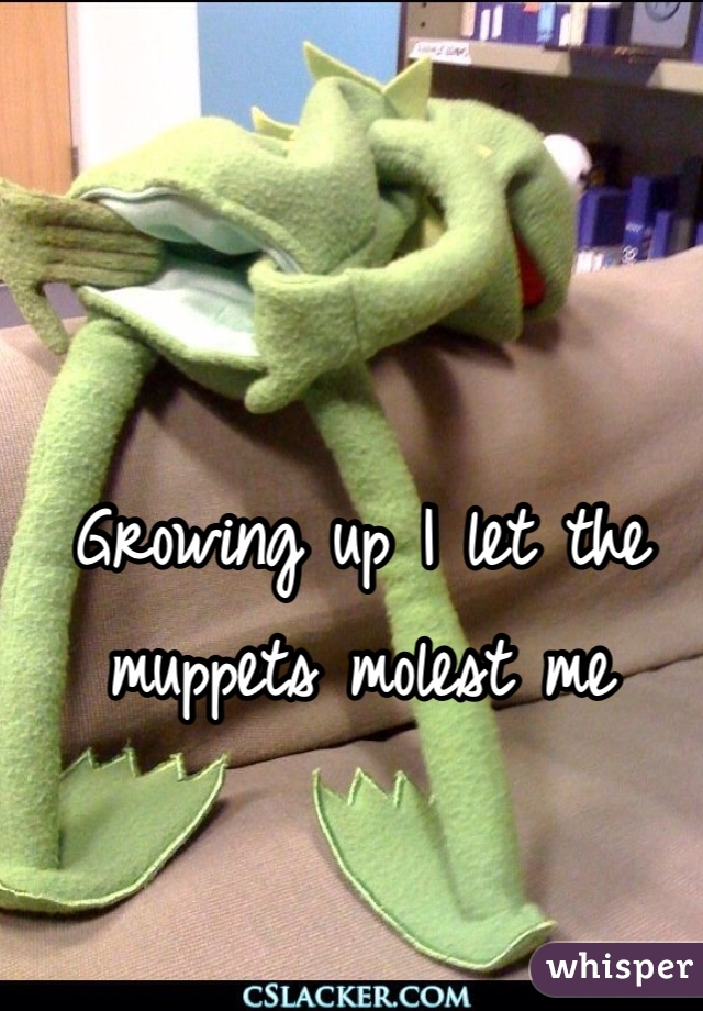 Growing up I let the muppets molest me