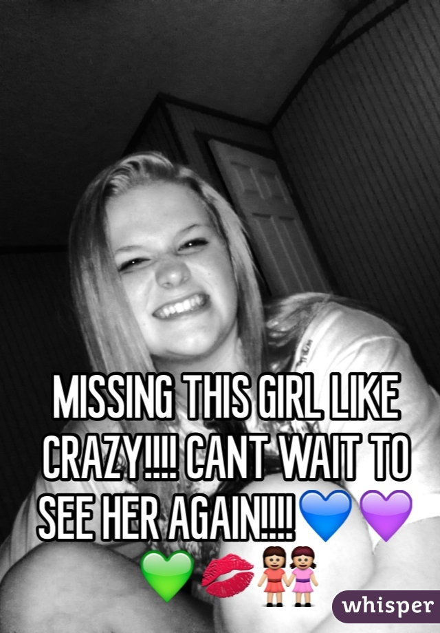 MISSING THIS GIRL LIKE CRAZY!!!! CANT WAIT TO SEE HER AGAIN!!!!💙💜💚💋👭