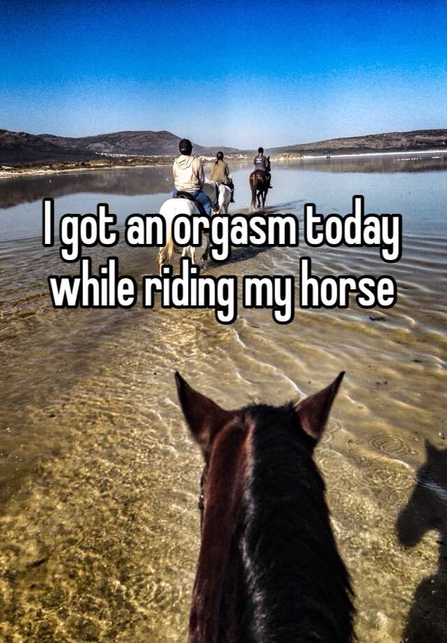 I got an orgasm today while riding my horse