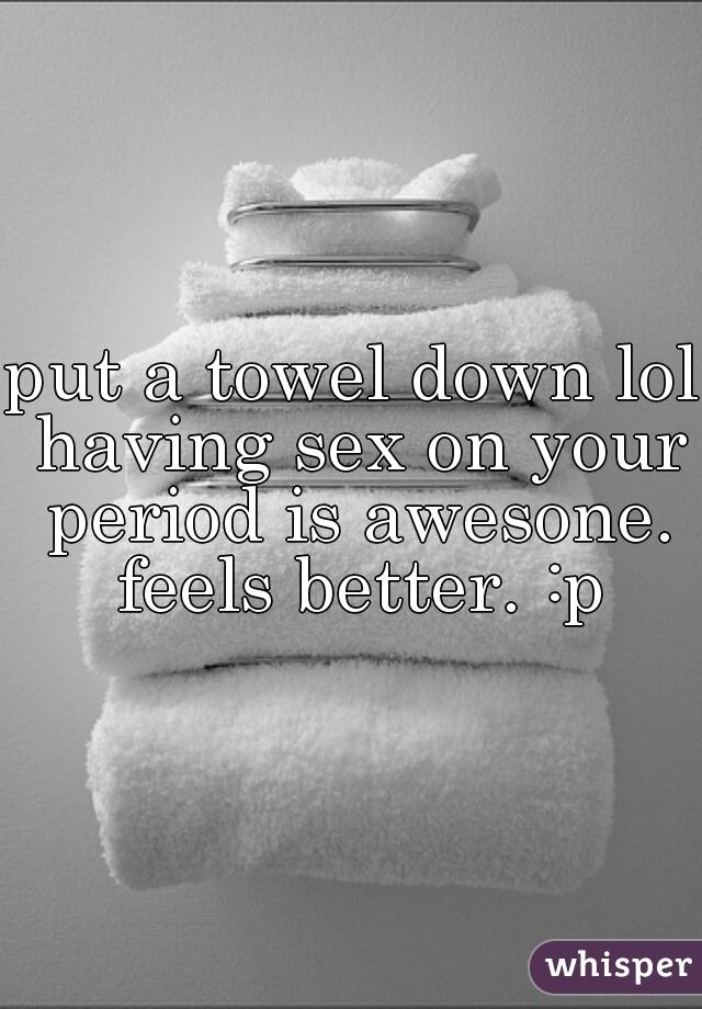 sex on towel