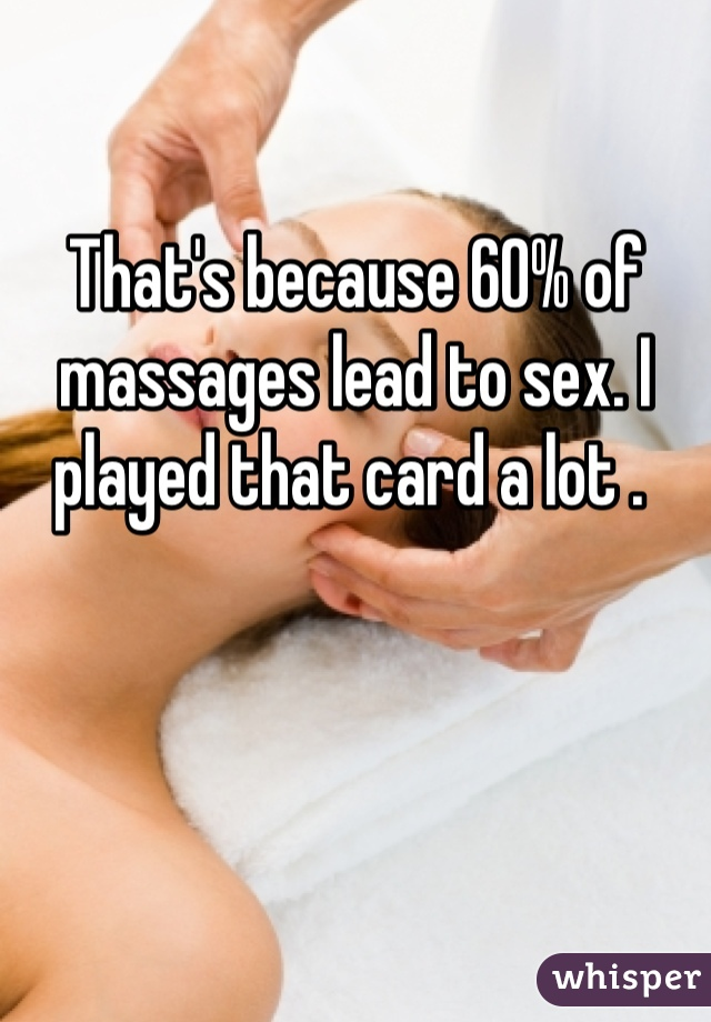 Best massage to lead to sex