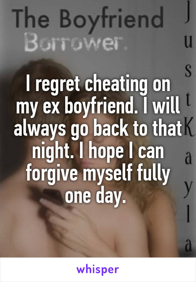 i regret cheating