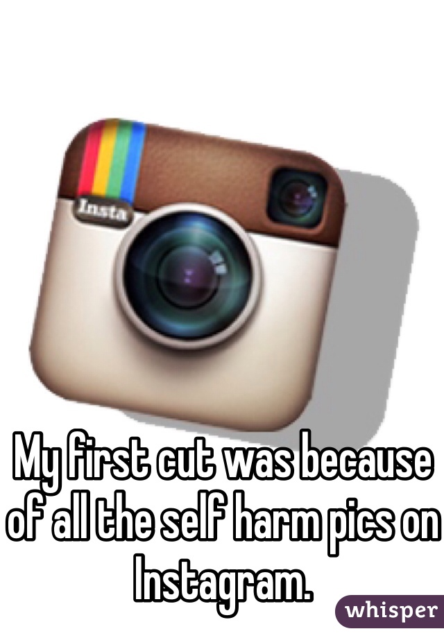 My first cut was because of all the self harm pics on Instagram.