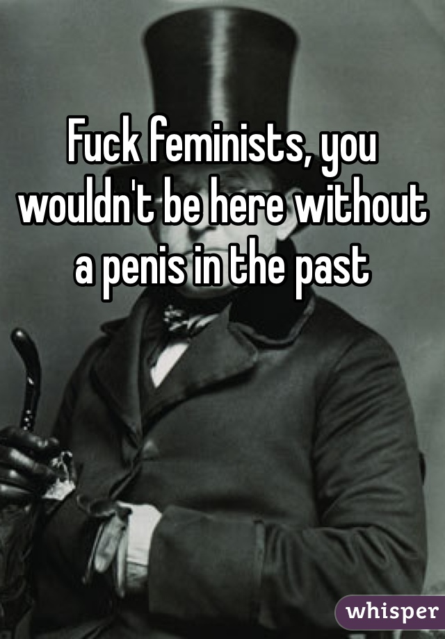 Fuck feminists, you wouldn't be here without a penis in the past