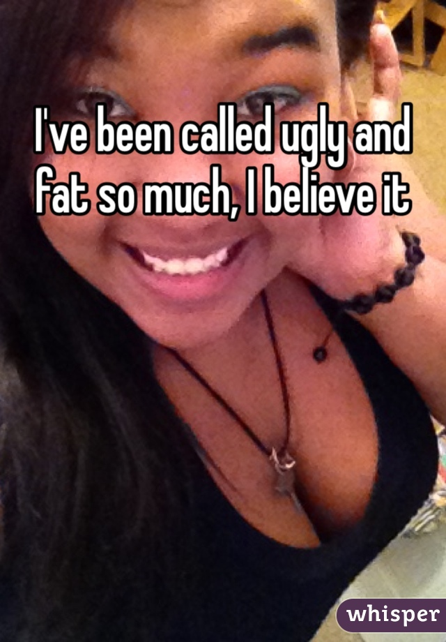 I've been called ugly and fat so much, I believe it