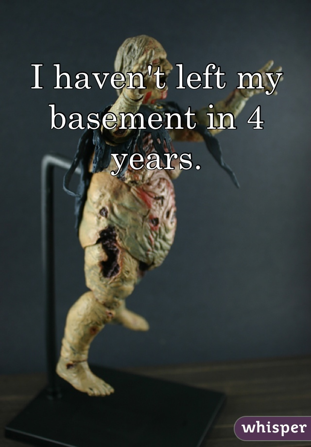 I haven't left my basement in 4 years.