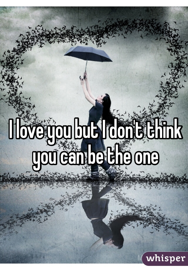 I love you but I don't think you can be the one
