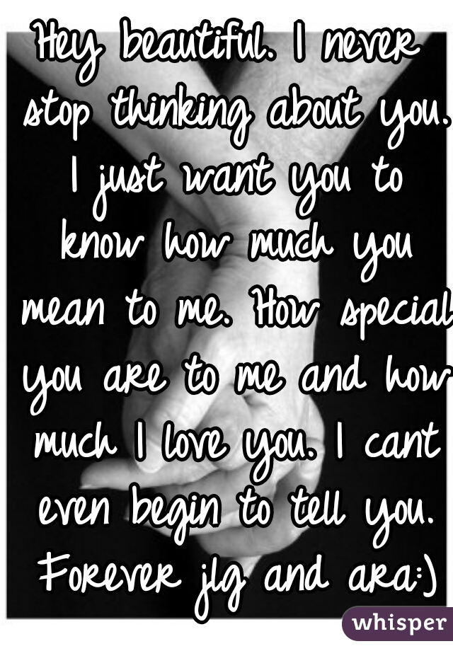 I need you to know how much i love you