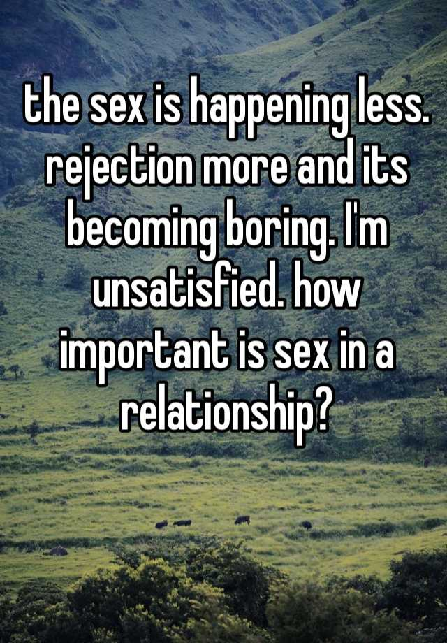 how important is sex