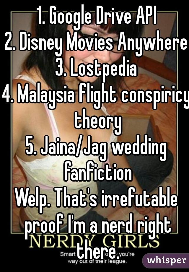 1  Google Drive API 2  Disney Movies Anywhere 3  Lostpedia 4