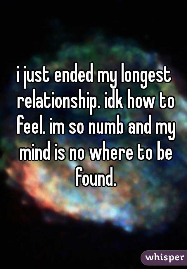 i feel numb in my relationship