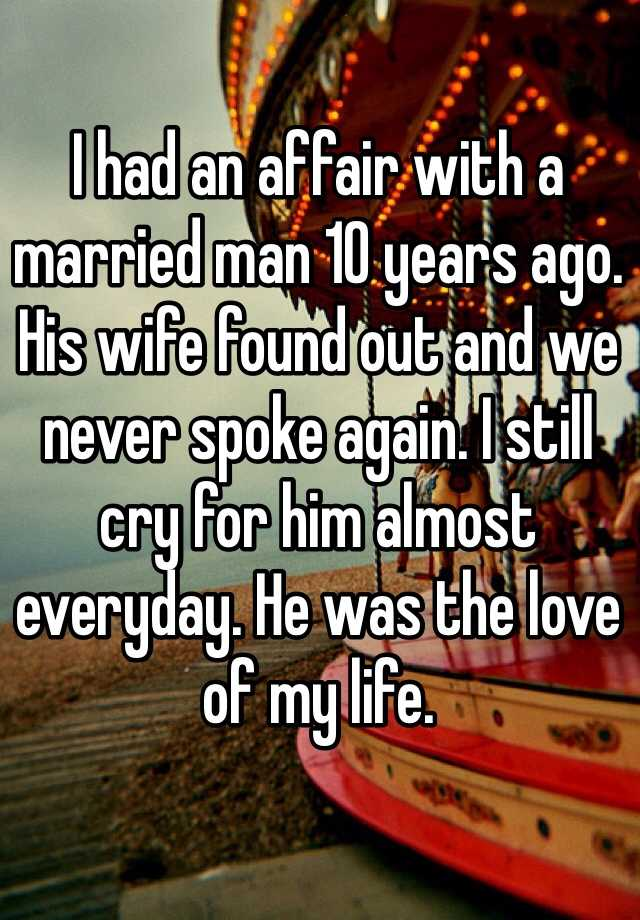 life after an affair with a married man