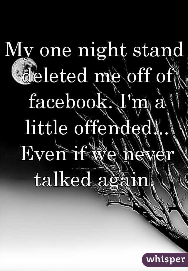 One night stand facebook