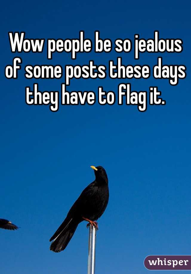 Wow people be so jealous of some posts these days they have to flag it.
