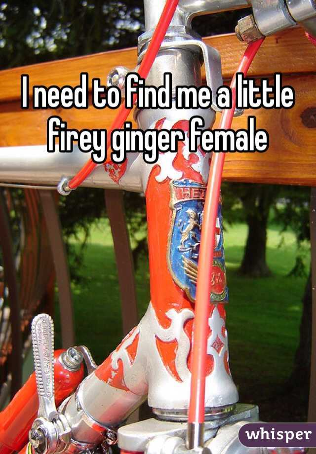 I need to find me a little firey ginger female