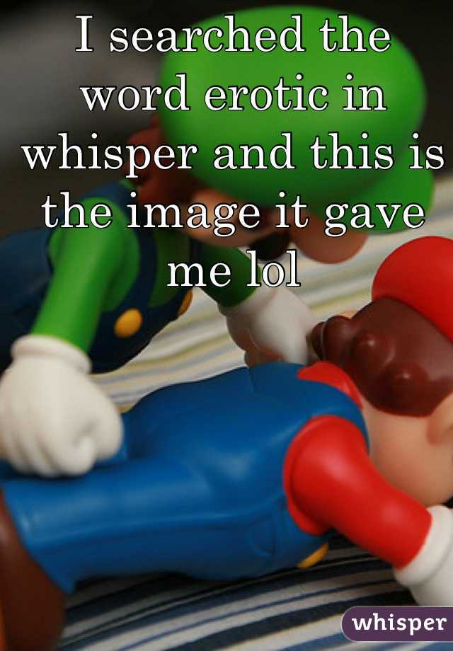 I searched the word erotic in whisper and this is the image it gave me lol