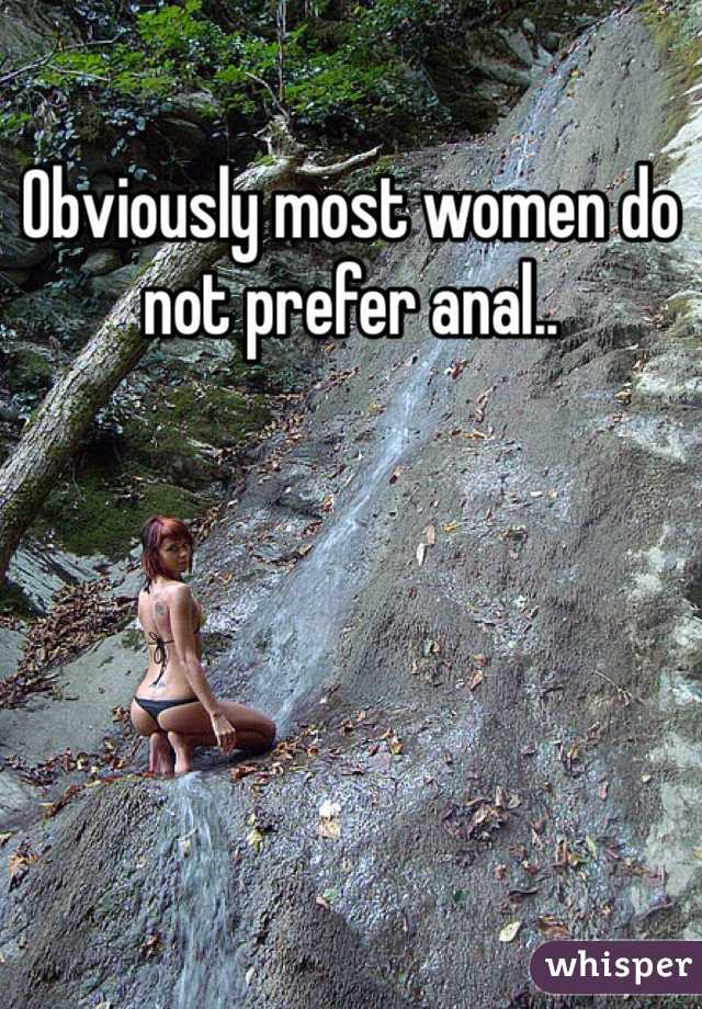 Women who prefer anal
