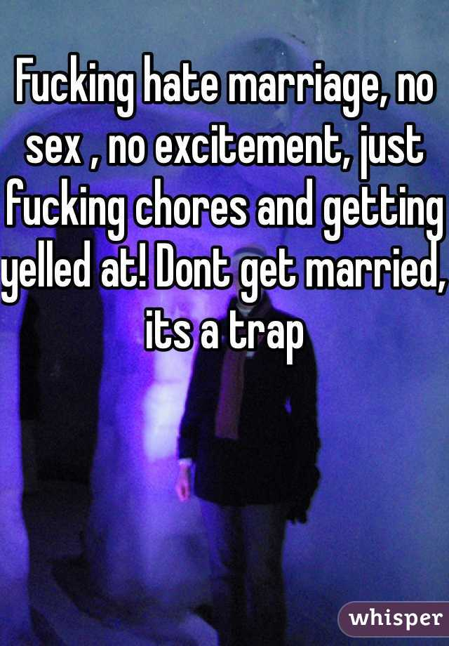 Marriage and no sex