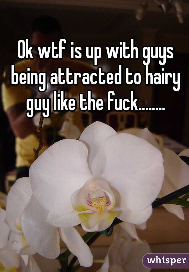Ok wtf is up with guys being attracted to hairy guy like the fuck........